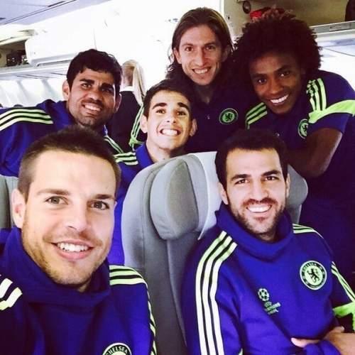 Селфи игроков «Челси»